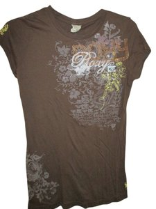 Roxy New Large T Shirt Brown