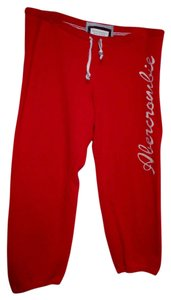 Abercrombie & Fitch Capris Red