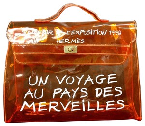 Hermès Clear Orange Beach Bag