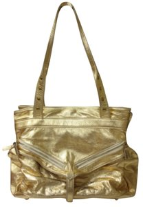 Botkier Leather Metallic Satchel in Gold