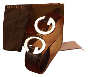 Gucci BLACK TEXTURE LEATHER GG LOGO SILVER BUCKLE BELT