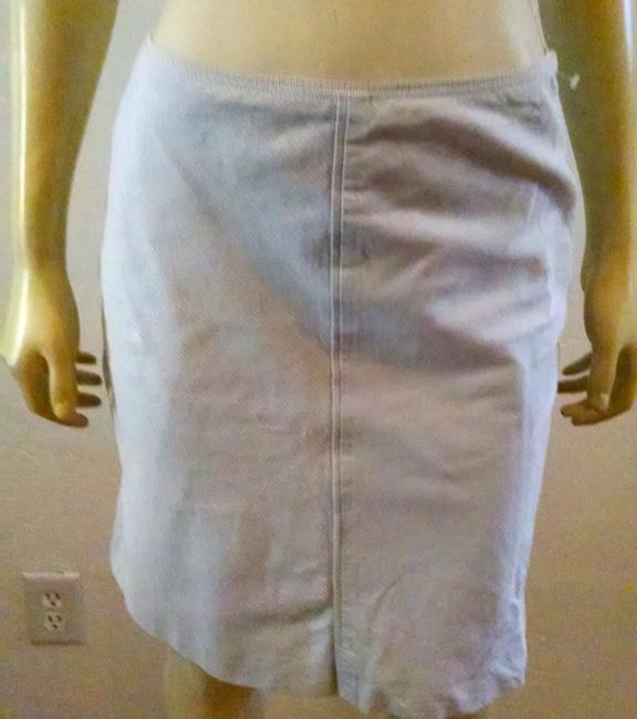 Ann Taylor P713 Size 2 Skirt White gray pin striped
