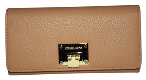 Michael Kors Michael Kors Suntan Leather Flap Clutch Wallet