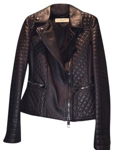 Burberry Leather Moto black Leather Jacket