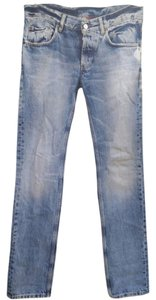 Prada Distressed Straight Leg Jeans-Light Wash