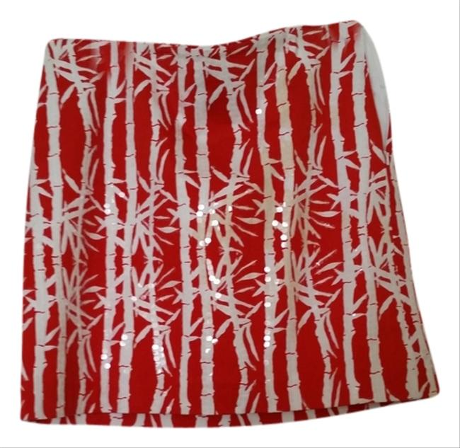 MICHAEL Michael Kors Mini Skirt Red/White