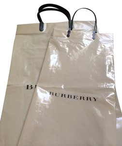 Burberry AUTHENTIC BURBERRY Plastic Shopping Bags Gift Bags Khaki