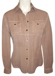 Ryan Michael Western Button Down Shirt weathered brown