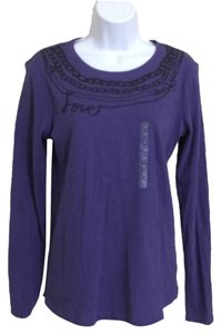 Ann Taylor LOFT Longsleeve Top Purple