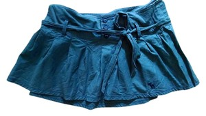 Abercrombie & Fitch Mini Size Small Above Knee W Belt Cute P716 Mini Skirt Navy BLue