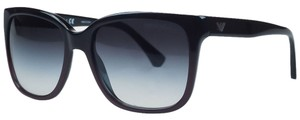 Emporio Armani Emporio Armani Black/Brown Gradient Square Sunglasses