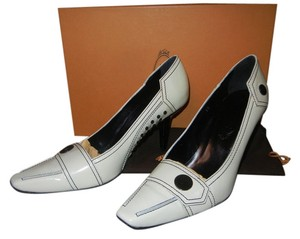 Tod's Patent Leather White Pumps