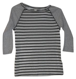 Forever 21 T Shirt Navy, Gray, and White Baseball Tee