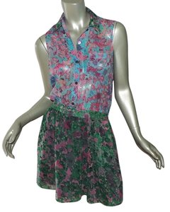 Gryphon short dress green blue pink on Tradesy