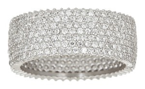 Sevil Cubic Zirconia & Sterling Silver Micropave Eternity Ring