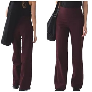 Lululemon New With Tags Lululemon Stillness Pants Size 4 Bordeaux