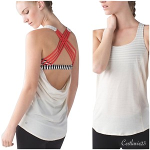 Lululemon New With Tags Lululemon Wild Tank Anwi Angel Wing Bold Stripe Size 8