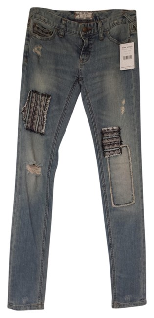 Free People Skinny Pants indio wash