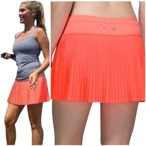 Lululemon New With Tags Lululemon Pleat To Street Skirt II sz 6 Grapefruit