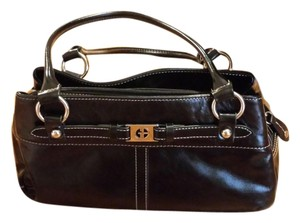 Giani Bernini Leather Satchel in black