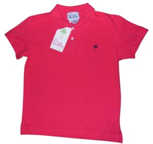 Lilly Pulitzer Lily Polo T Shirt Lobster Red