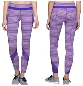 Lululemon New With Tags Lululemon Inspire Tight II SZ 4 Purple Stripes PQWE
