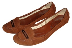 Tod's Suede Kitten Heels Brown Pumps