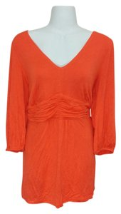 NY Collection Shirt Ny Ruffles 3/4 Sleeve Plus-size 1x Top Red-orange