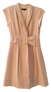 Nanette Lepore Bow Fold-over Fold Darts Hidden Button Dress