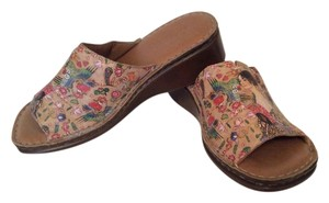 Icon Tattoed Leather Multi Mules