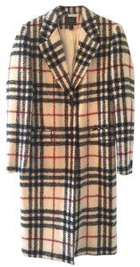 Louben Vintage Trench Plaid Houndstooth Trench Coat