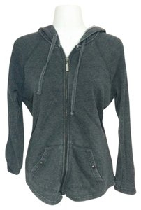 Style & Co Gray hoodie full zipper sweatshirt, Petite Medium, #3060