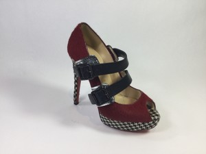 Christian Louboutin Red/Black Platforms