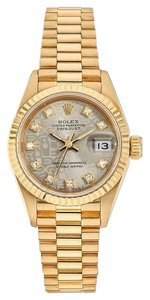 Rolex Rolex Datejust 18K Yellow Gold Custom Diamond Dial Ladies Watch