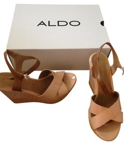 ALDO Nude Sandals nude/beige Wedges