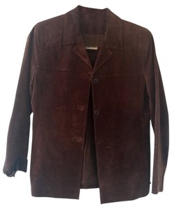 Lord & Taylor Leather Brown Leather Jacket