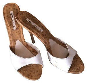 Wet Seal Patent Leather Patent Leather White Sandals