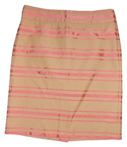 J.Crew J. Crew Pencil Skirt khaki/pink