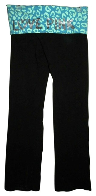 Item - Black Blue & Green Fold Over Love Pink Small Pants Size 6 (S, 28)