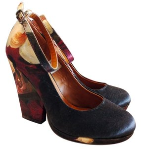 H&M Concious Collection Ted Baker Oil Painting Recycled Limited Edition Dries Van Noten Matchy burgundy oxblood Wedges