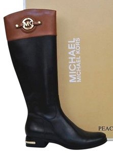 Michael Kors Black and Luggage Boots