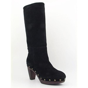Steven by Steve Madden Hasbeen Gucci Suede Clog Black, Brown Boots