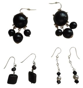 Other Three (3) pair of black and white earrings