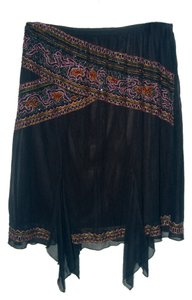 KC Gold Beaded Skirt Black