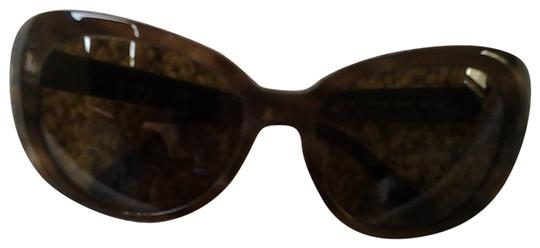 Chanel New Chanel Brown Frame with Swarovski Crystal Flowers and CC Logo Sunglasses-5151-B