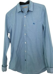 Burberry Brit Gingham Shirt Gingham Med Button Down Shirt blue