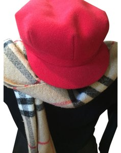 Burberry Burberry red wool vintage Cap