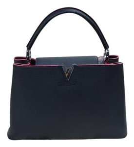 Louis Vuitton Lv Capucines Mm 2014 Tote in Navy