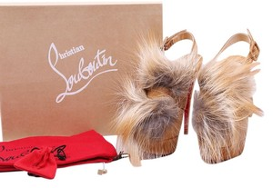 Christian Louboutin Tan Platforms