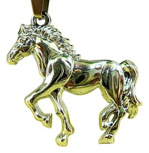 Stainless Steel Horse Necklace Unisex Free Shipping